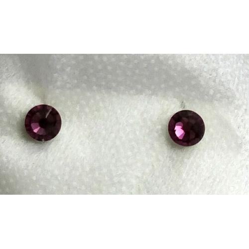 Серьги-гвоздики фиолет2