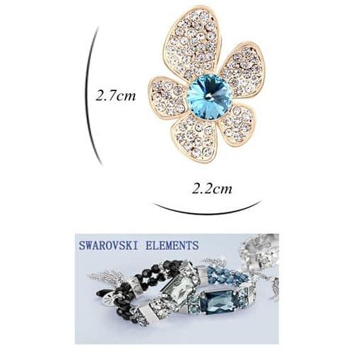 "Серьги ""Голубой цветок""1"