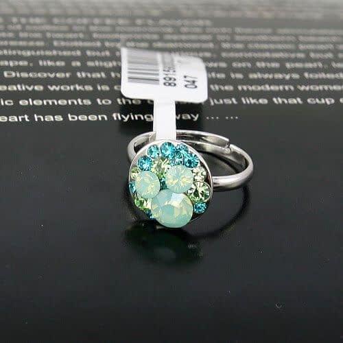 """Кольцо """"Аквамариновое""""2"""