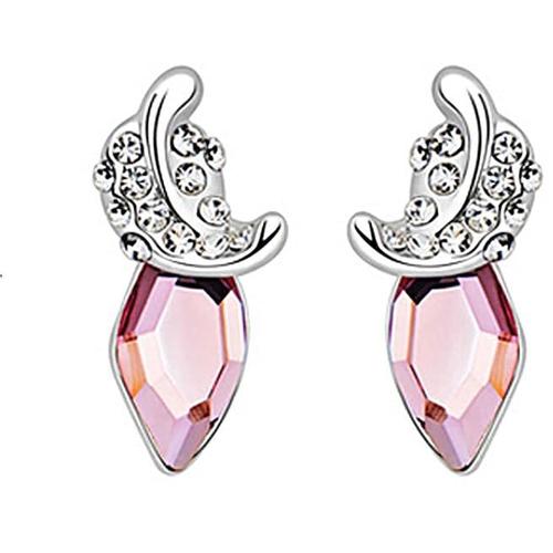 """Серьги """"Мгновение"""", розовый"""